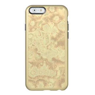 Coque iPhone 6 Incipio Feather® Shine Conception d'or de papier de marbrure