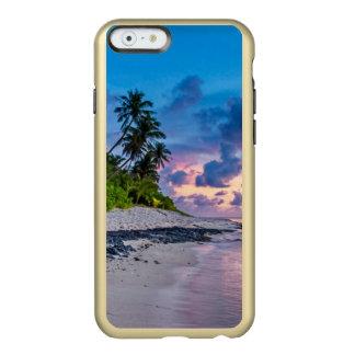 Coque iPhone 6 Incipio Feather® Shine L'eau des Caraïbes de turquoise de plage et paumes