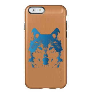 Coque iPhone 6 Incipio Feather® Shine Loup de bleu glacier d'illustration