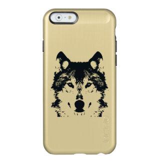 Coque iPhone 6 Incipio Feather® Shine Loup noir d'illustration