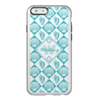 Coque iPhone 6 Incipio Feather® Shine Monogramme nautique de plage de diamant bleu de