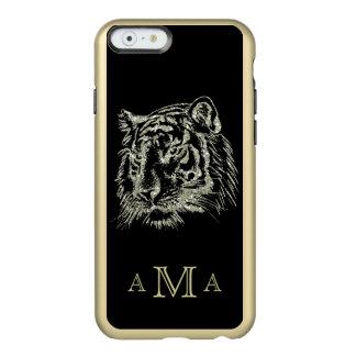 Coque iPhone 6 Incipio Feather® Shine Monogramme noir de tigre d'or