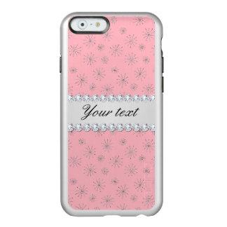 Coque iPhone 6 Incipio Feather® Shine Rose argenté chic de flocons de neige de