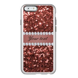 Coque iPhone 6 Incipio Feather® Shine Scintillement rose et diamants de Faux d'or