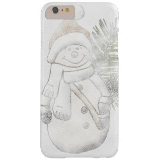 Coque iPhone 6 Plus Barely There Cas de téléphone de Noël de bonhomme de neige