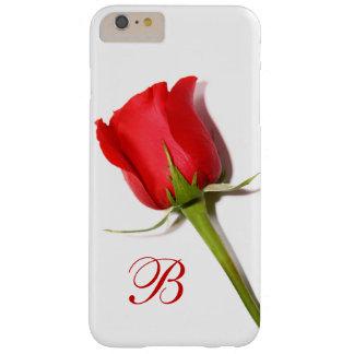 Coque iPhone 6 Plus Barely There Cas plus de l'iPhone 6 de monogramme de rose rouge