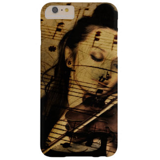 Coque iPhone 6 Plus Barely There Cas vintage de Madame Playing Violin Music Phone