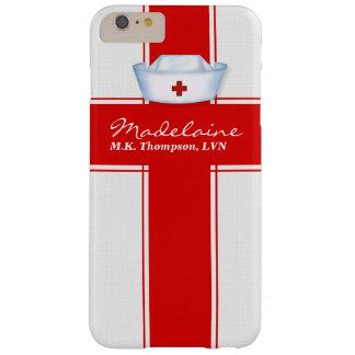 Coque iPhone 6 Plus Barely There Casquette d'infirmières dans la coutume rouge et