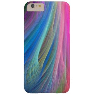 Coque iPhone 6 Plus Barely There Conception de plume de couleur d'arc-en-ciel
