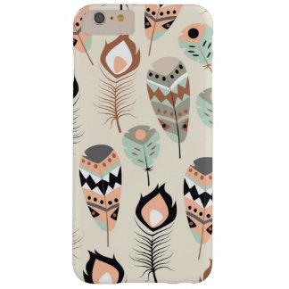 Coque iPhone 6 Plus Barely There Couverture de téléphone - plumes tribales
