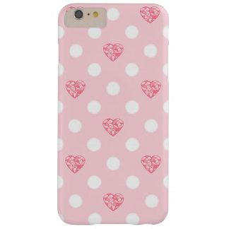 Coque iPhone 6 Plus Barely There Cristaux et pois roses de coeur