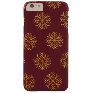 Coque iPhone 6 Plus Barely There Cuivre et cas de téléphone de flocons de neige de