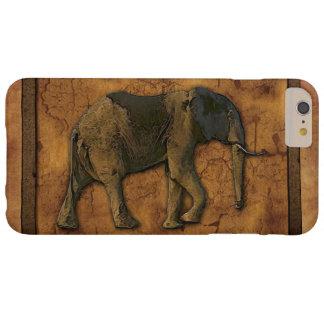 Coque iPhone 6 Plus Barely There Éléphant africain et arrière - plan rustique