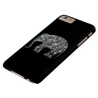 Coque iPhone 6 Plus Barely There iPhone argenté scintillant 6 d'éléphant de