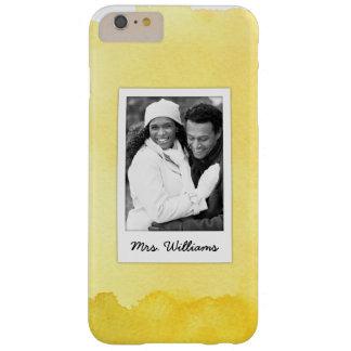 Coque iPhone 6 Plus Barely There La peinture jaune | d'aquarelle ajoutent la photo