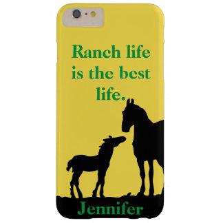 Coque iPhone 6 Plus Barely There La vie de ranch est le meilleur cas de téléphone