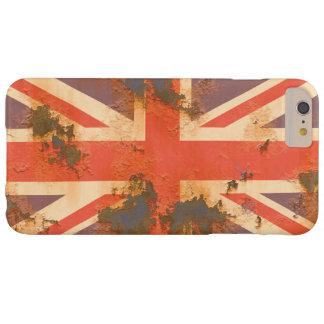 Coque iPhone 6 Plus Barely There Le cru s'est rouillé drapeau du Royaume-Uni