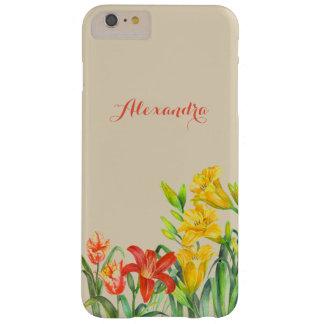 Coque iPhone 6 Plus Barely There Le ressort personnalisé fleurit l'art floral