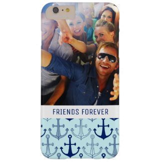 Coque iPhone 6 Plus Barely There Motif bleu | d'ancre votre photo et texte