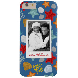 Coque iPhone 6 Plus Barely There Motif sous-marin | de la vie votre photo et nom