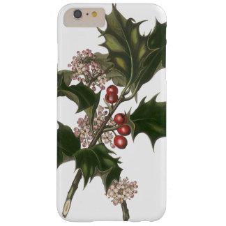 Coque iPhone 6 Plus Barely There Noël vintage, usine verte de houx avec des baies