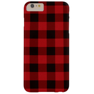 Coque iPhone 6 Plus Barely There Plaid rouge et noir de pays