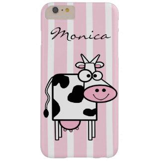Coque iPhone 6 Plus Barely There Poster de animal Girly de sourire de vache décoré