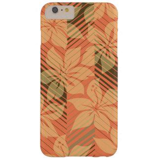 Coque iPhone 6 Plus Barely There Rayures hawaïennes de ketmie de rivage du nord