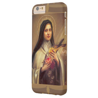 Coque iPhone 6 Plus Barely There St Therese les petits roses de la fleur w/pink