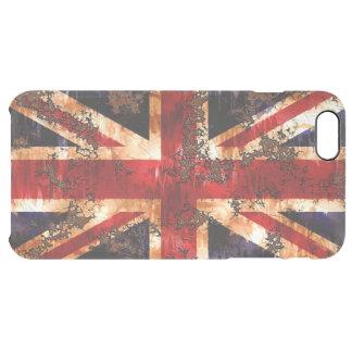 Coque iPhone 6 Plus Drapeau patriotique rouillé du Royaume-Uni