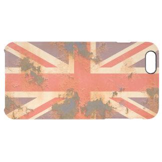 Coque iPhone 6 Plus Le cru s'est rouillé drapeau du Royaume-Uni