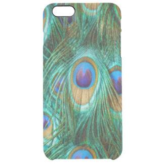 Coque iPhone 6 Plus Plumes de paon de vert bleu