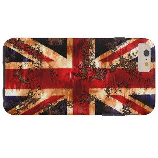 Coque iPhone 6 Plus Tough Drapeau patriotique rouillé du Royaume-Uni
