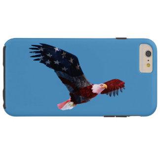 Coque iPhone 6 Plus Tough Eagle chauve couvert de drapeau américain