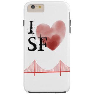 Coque iPhone 6 Plus Tough I cas de téléphone du coeur SF