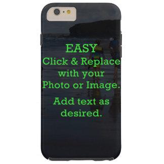 Coque iPhone 6 Plus Tough Le clic facile et remplacent l'image pour créer