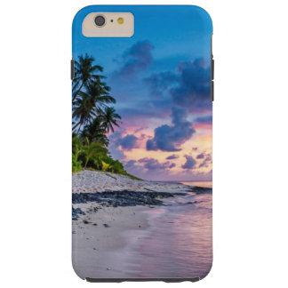 Coque iPhone 6 Plus Tough Lever de soleil romantique de plage tropicale