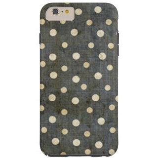 Coque iPhone 6 Plus Tough Motif de point noir et blanc sale de polka