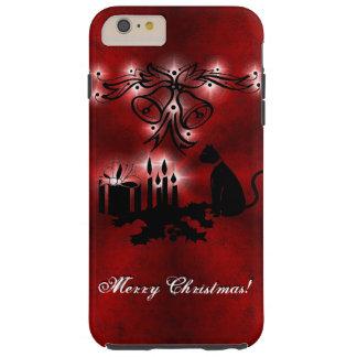Coque iPhone 6 Plus Tough Noël Artdeco avec le chat noir