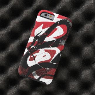 Coque iPhone 6 Tough Arrière - plan japonais noir de rouge de dragon