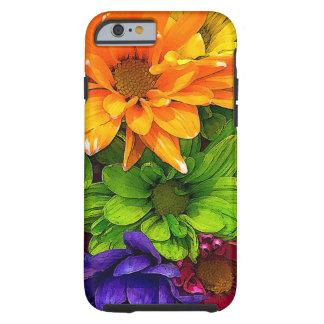 Coque iPhone 6 Tough Cas de floraison de téléphone de kaléidoscope par