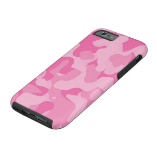 Coque iPhone 6 Tough Cas Girly rose de l'iPhone 6 de Camoflauge