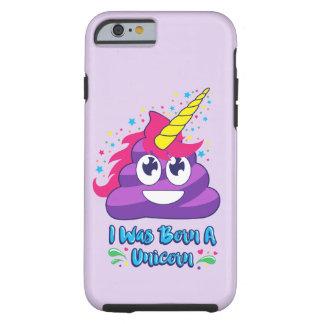 Coque iPhone 6 Tough Cas né de téléphone d'Emoji de dunette de licorne