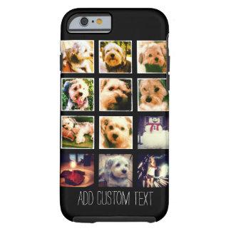 Coque iPhone 6 Tough Collage de photo avec l'arrière - plan noir