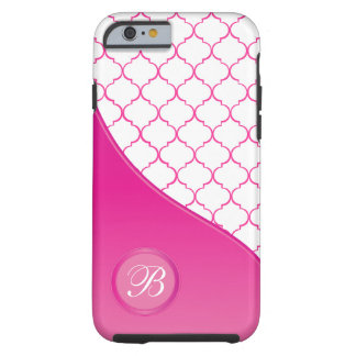 Coque iPhone 6 Tough Conception rose à la mode de Quatrefoil