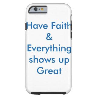 Coque iPhone 6 Tough Couverture de inspiration de cas de téléphone