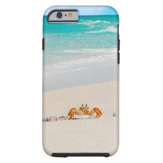 Coque iPhone 6 Tough Crabe mignon sur des cas tropicaux d'un téléphone