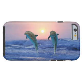 Coque iPhone 6 Tough Dauphin de Bottlenose au lever de soleil