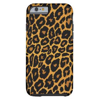 Coque iPhone 6 Tough Empreinte de léopard avec de l'or de gradient