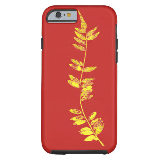 Coque iPhone 6 Tough feuille d'or